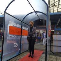 Primer módulo sanitizador es instalado en el Terminal Alameda de Santiago