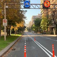 Nuevas ciclovías temporales son implementadas en Las Condes