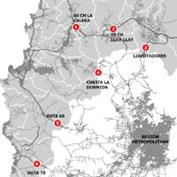 Se mantienen aduanas sanitarios en todas las autopistas que unen la Región Metropolitana con Valparaíso