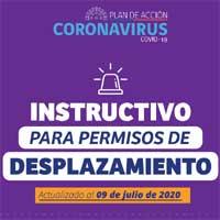 Actualización del instructivo para permisos de desplazamiento en cuarentena