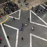 Cerca de 57 cruces a nivel nacional contarán con demarcación peatonal tipo Tokio