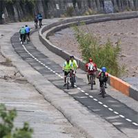 """Reinauguran """"Mapocho Ciclo Parque"""" en el río Mapocho"""