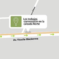 Implementan desvíos por remodelación de Vicuña Mackenna en Peñaflor